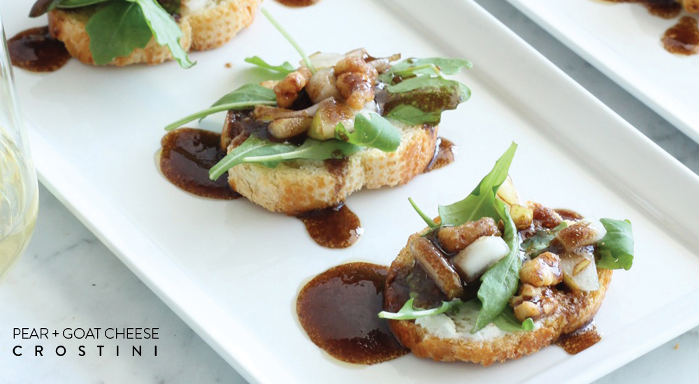 Wine Wednesday | Pear + Goat Cheese Crostini