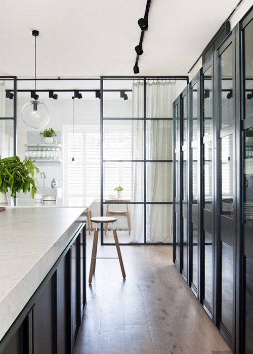 interior design black fram window 2