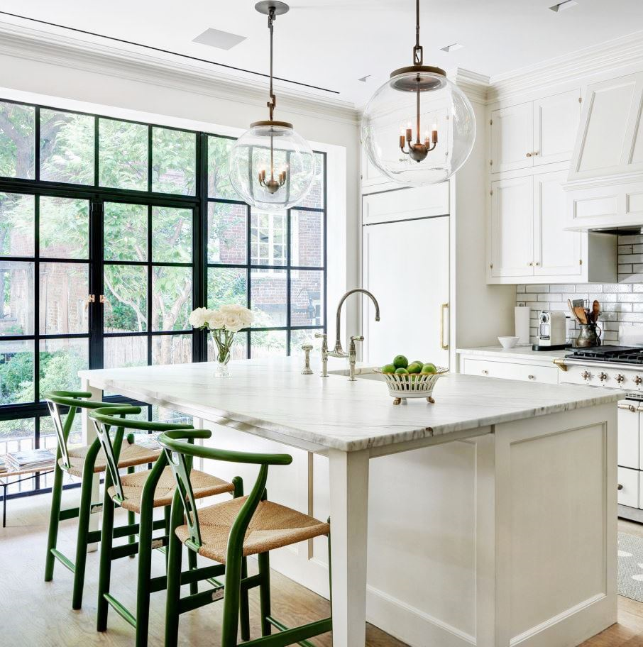 Nyc Kitchen Casement Steel Windows Traditional Island Off White Urban