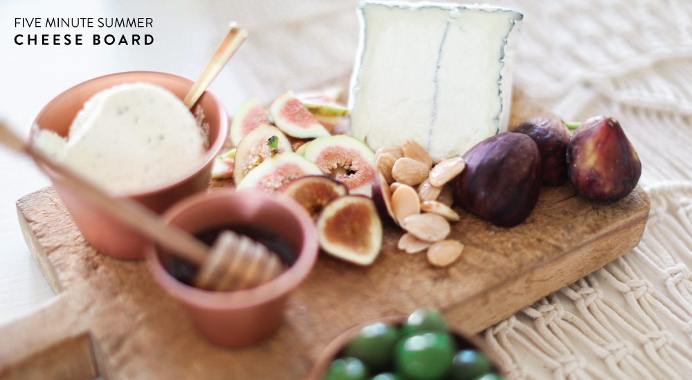 Fig Season! / 5 Minute Cheese Board